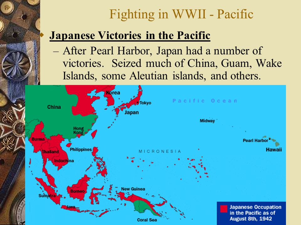 Fighting in WWII - Pacific
