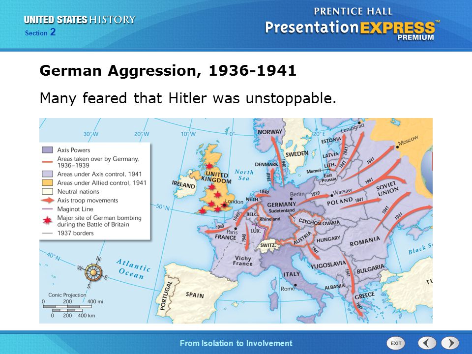 German Aggression, 1936-1941 Many feared that Hitler was unstoppable.