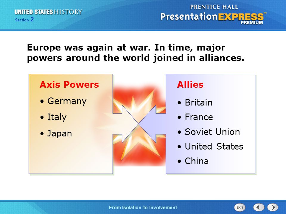Europe was again at war. In time, major powers around the world joined in alliances.
