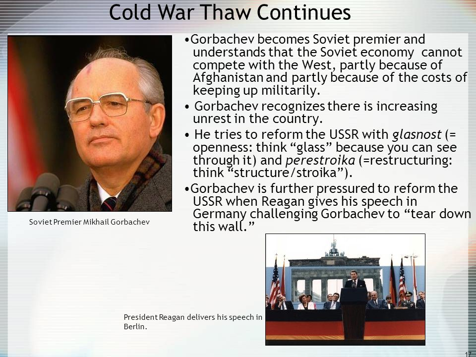 Cold War Thaw Continues