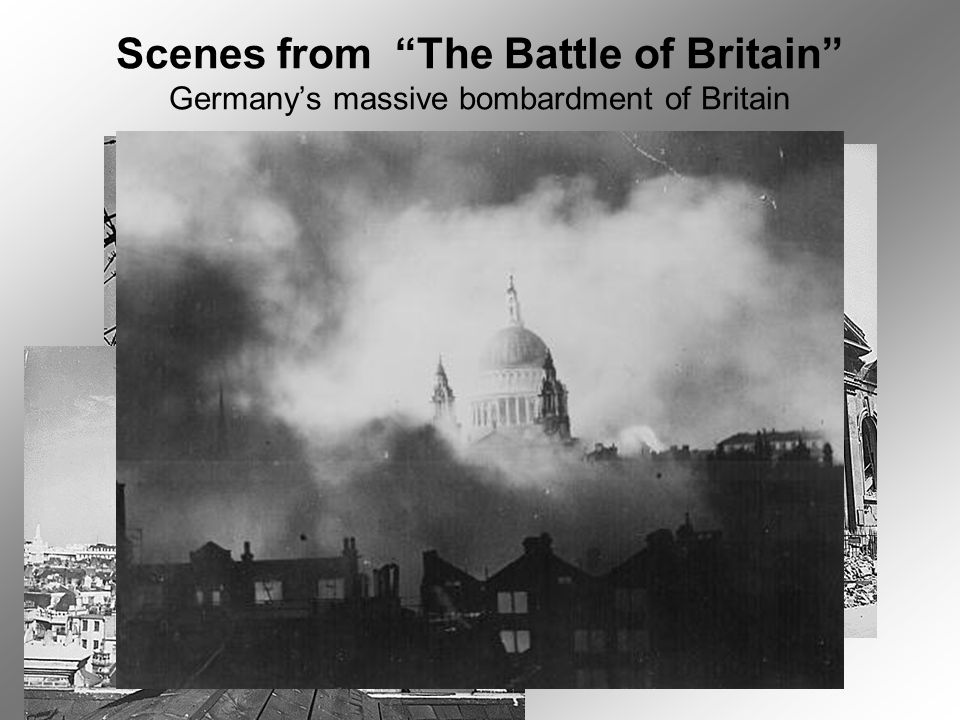 Scenes from The Battle of Britain Germany's massive bombardment of Britain