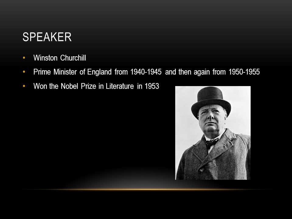 Speaker Winston Churchill