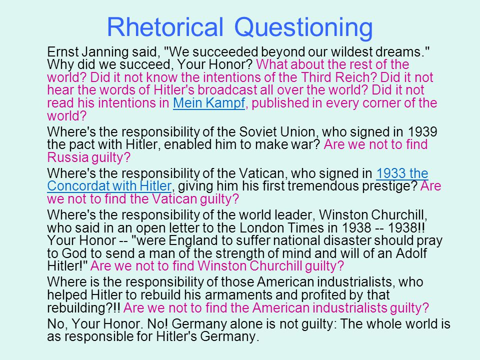 Rhetorical Questioning