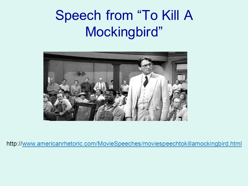 Speech from To Kill A Mockingbird