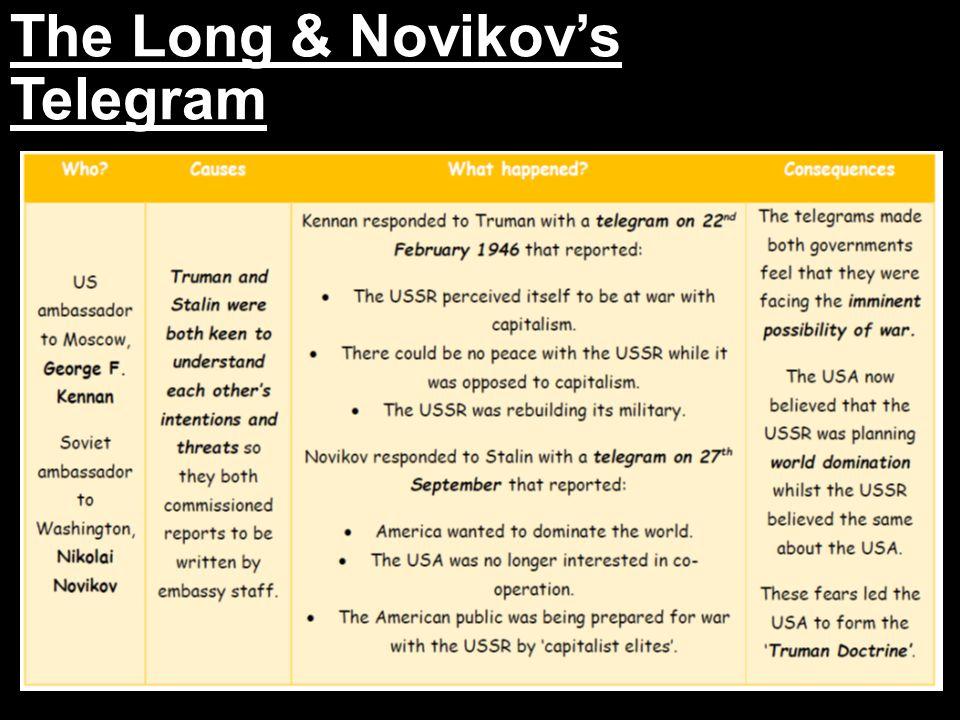 The Long & Novikov's Telegram