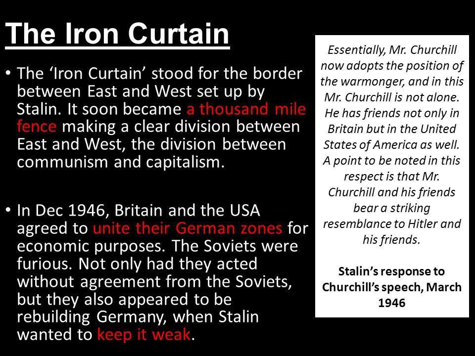 Stalin's response to Churchill's speech, March 1946