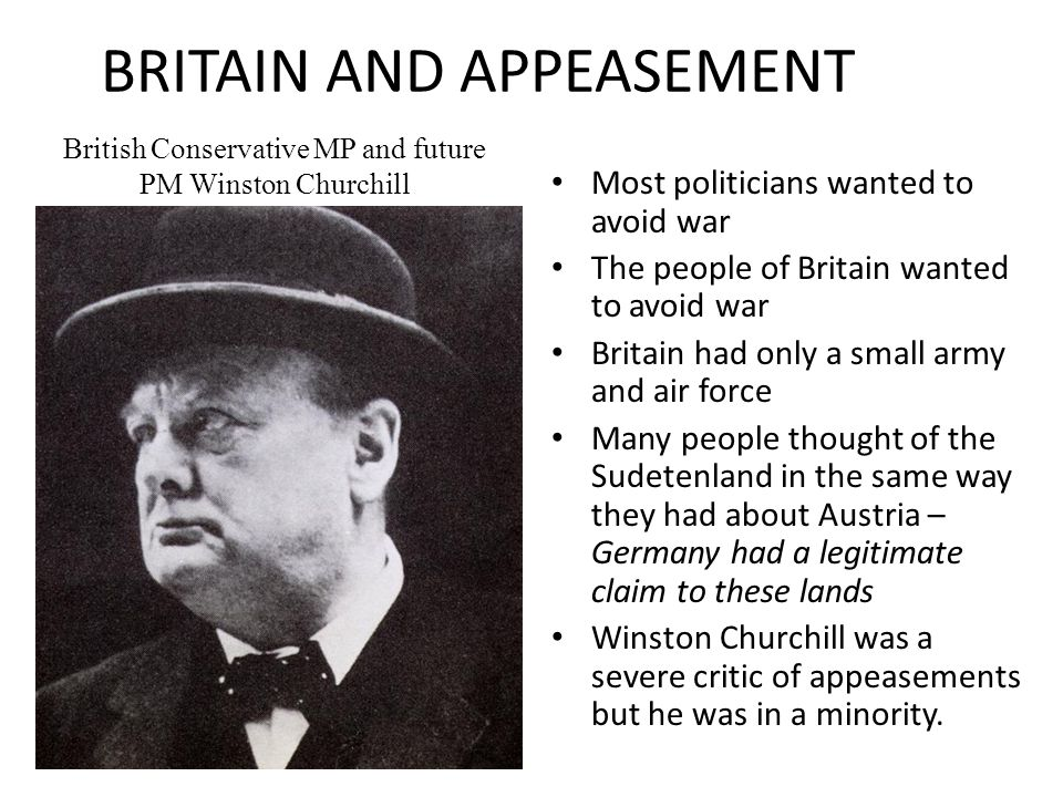 BRITAIN AND APPEASEMENT