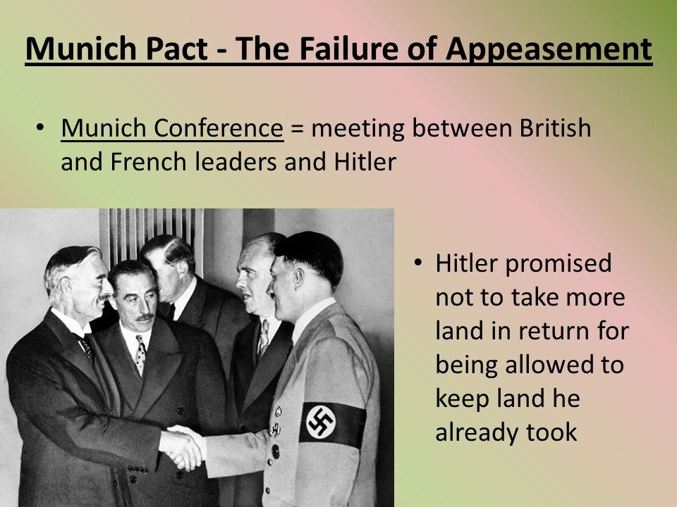 What was the policy of appeasement?