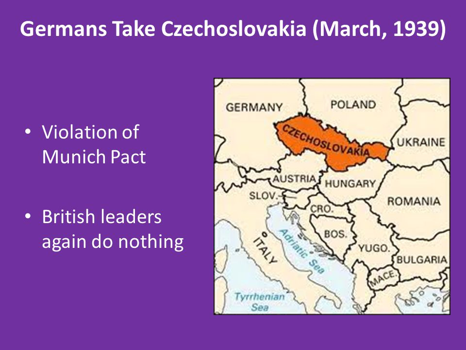 Germans Take Czechoslovakia (March, 1939)