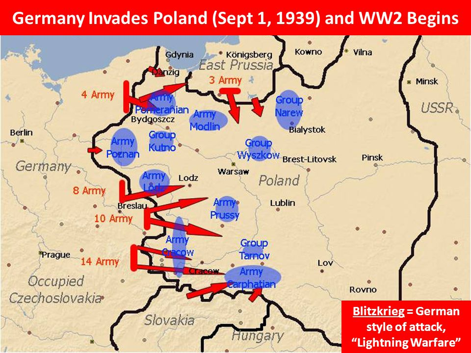 Germany Invades Poland (Sept 1, 1939) and WW2 Begins