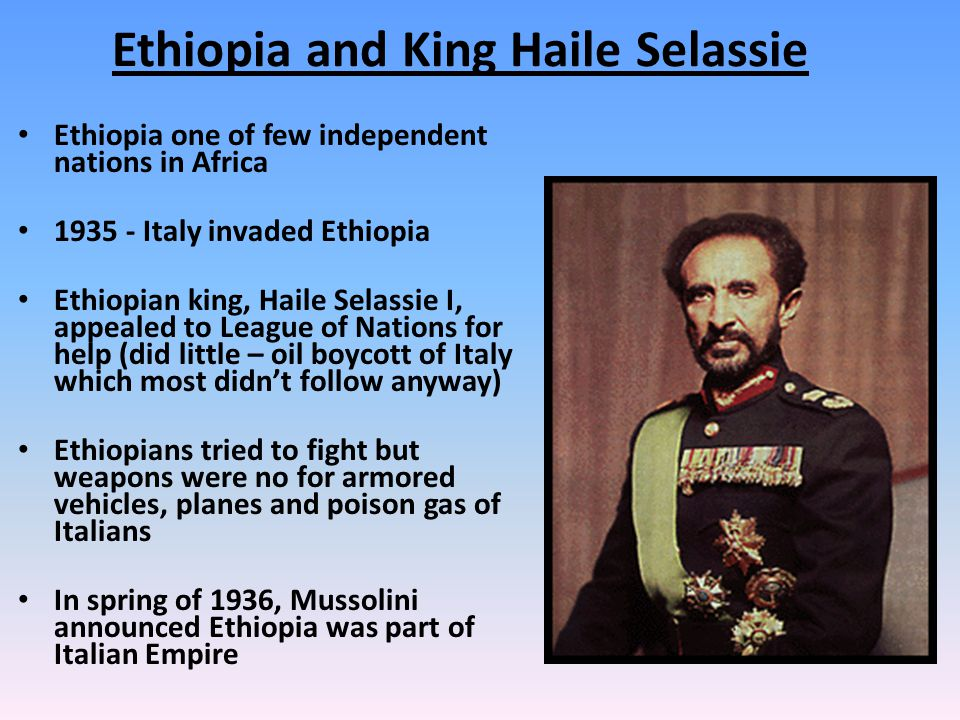 Ethiopia and King Haile Selassie