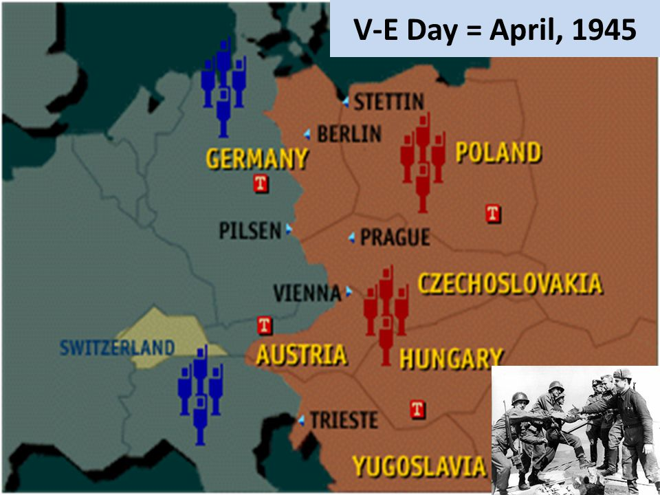 V-E Day = April, 1945