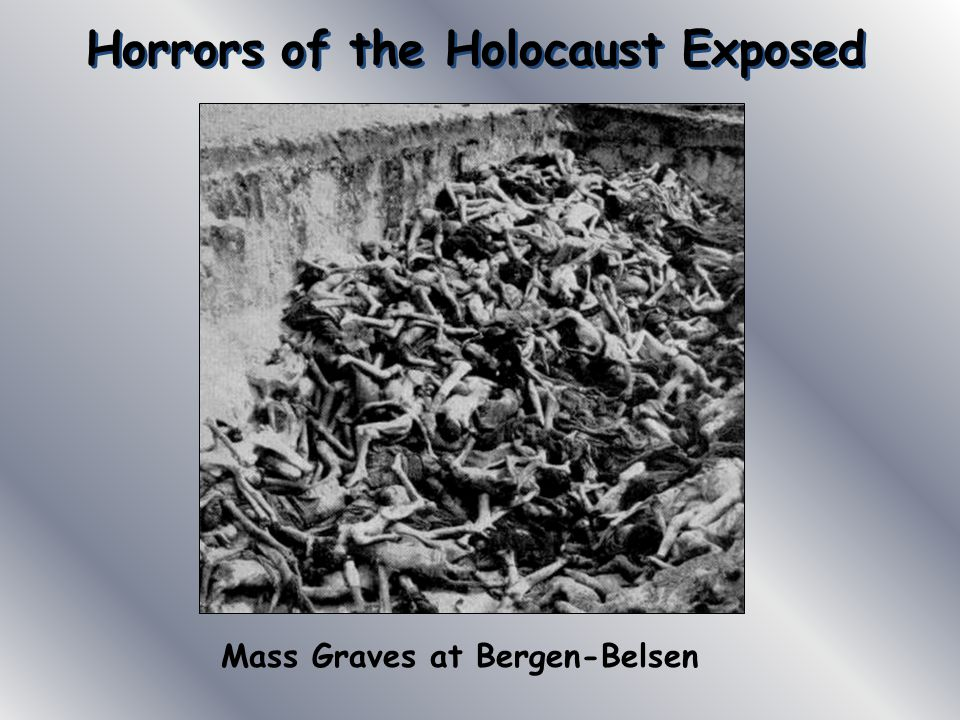 Horrors of the Holocaust Exposed Mass Graves at Bergen-Belsen