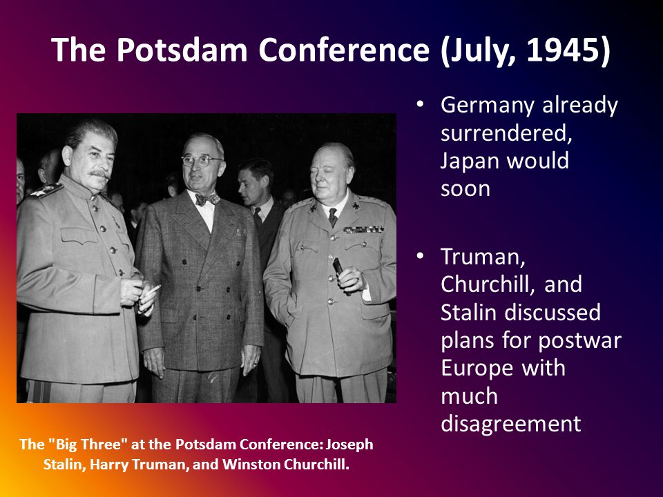 The Potsdam Conference (July, 1945)
