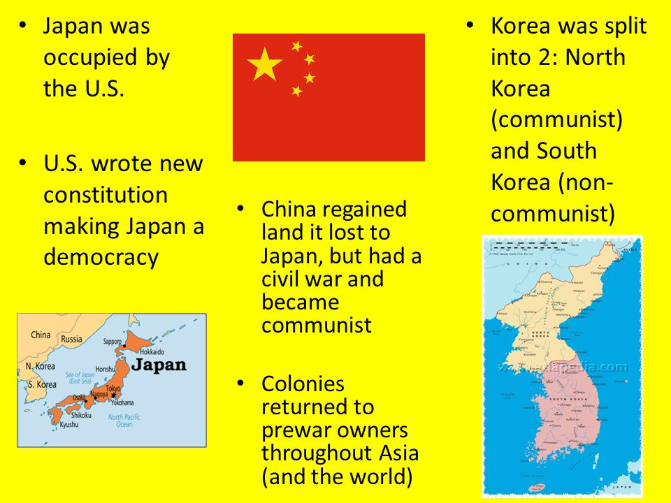 Japan was occupied by the U.S.
