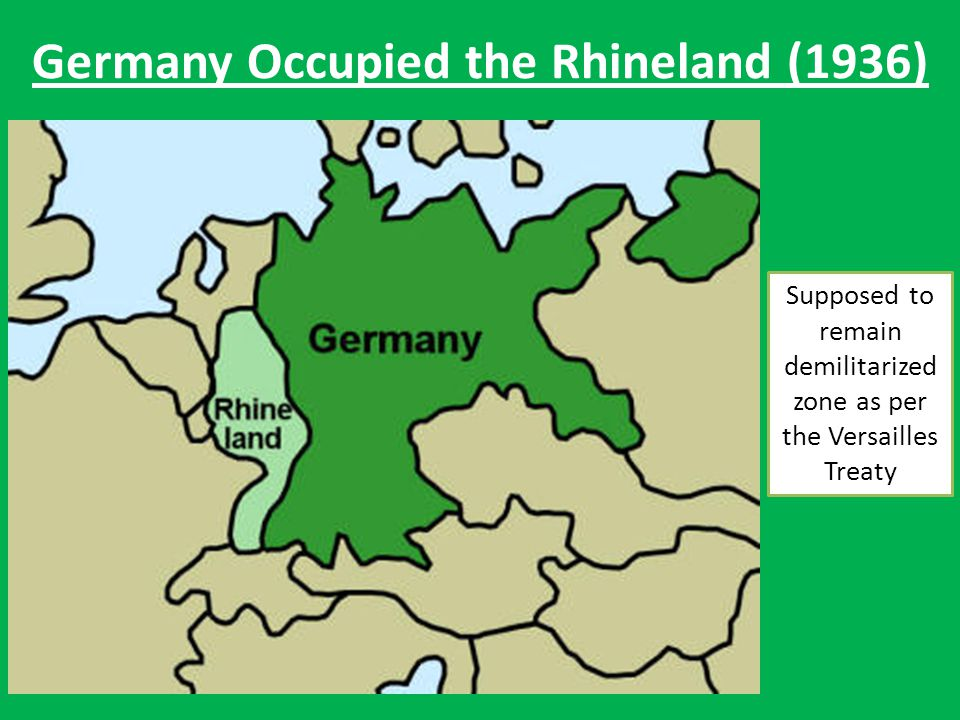 Germany Occupied the Rhineland (1936)
