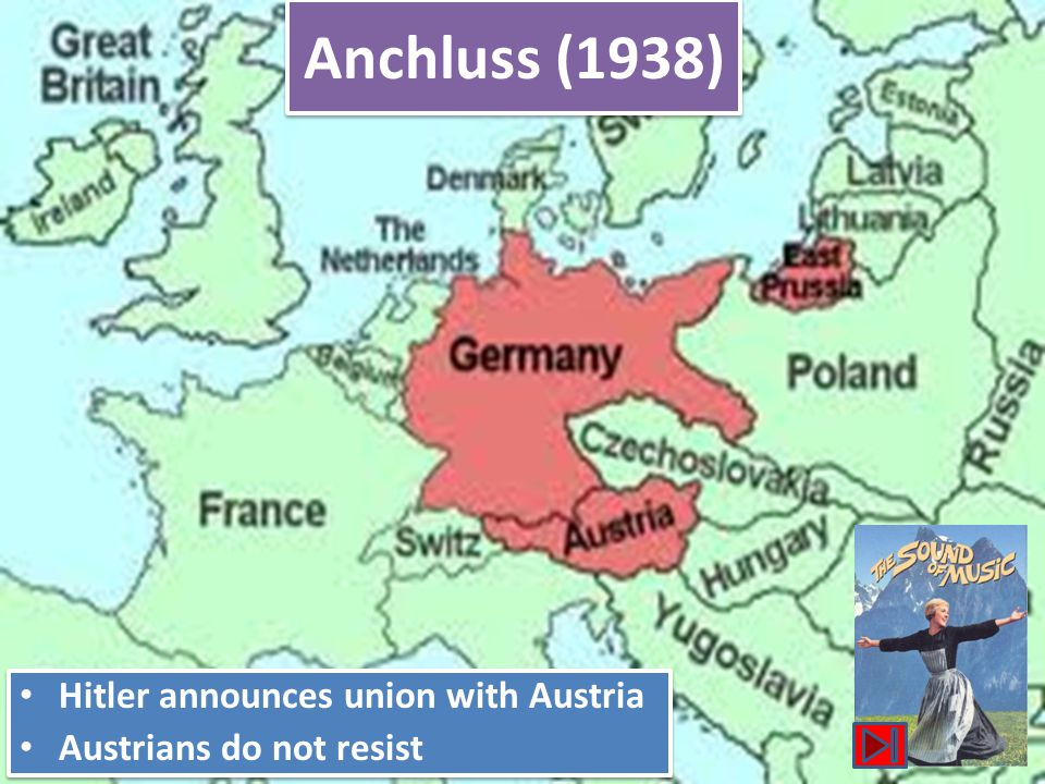 Anchluss (1938) Hitler announces union with Austria