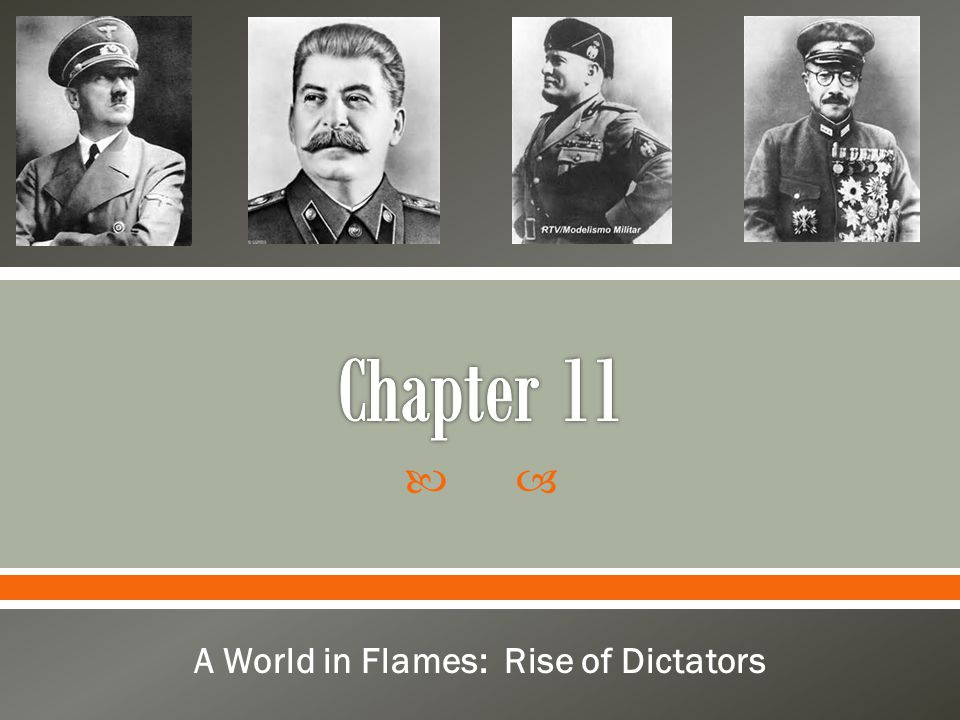 A World in Flames: Rise of Dictators