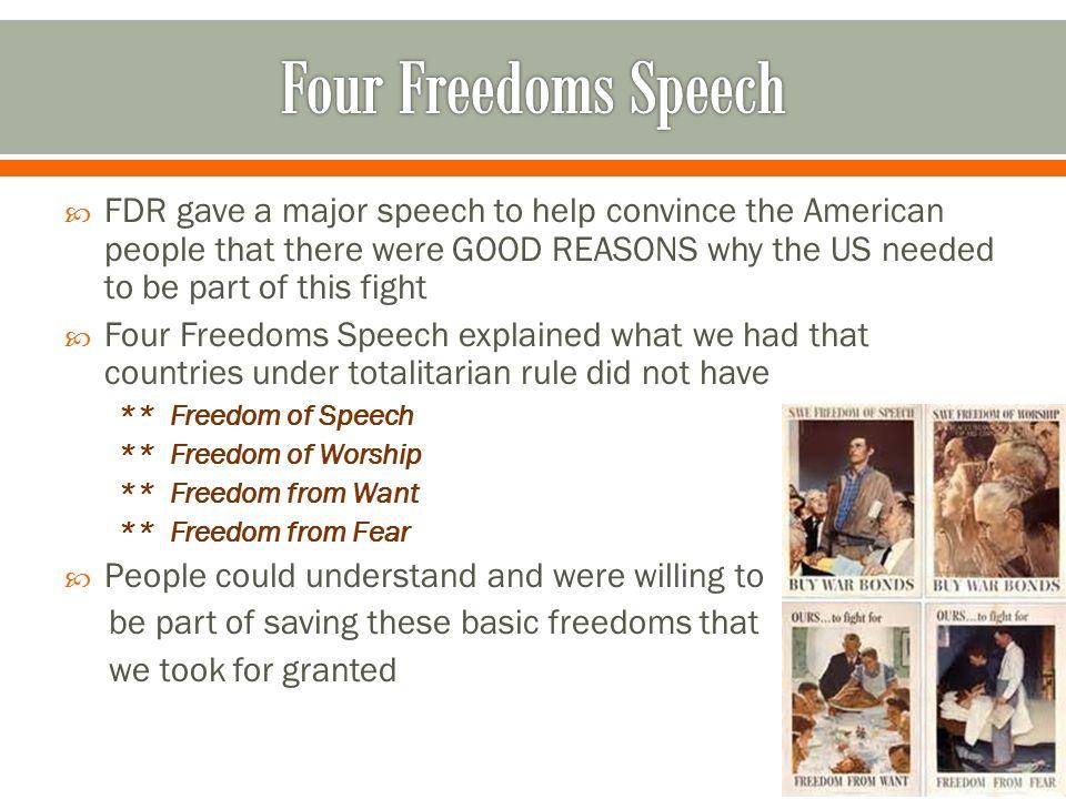 Four Freedoms Speech