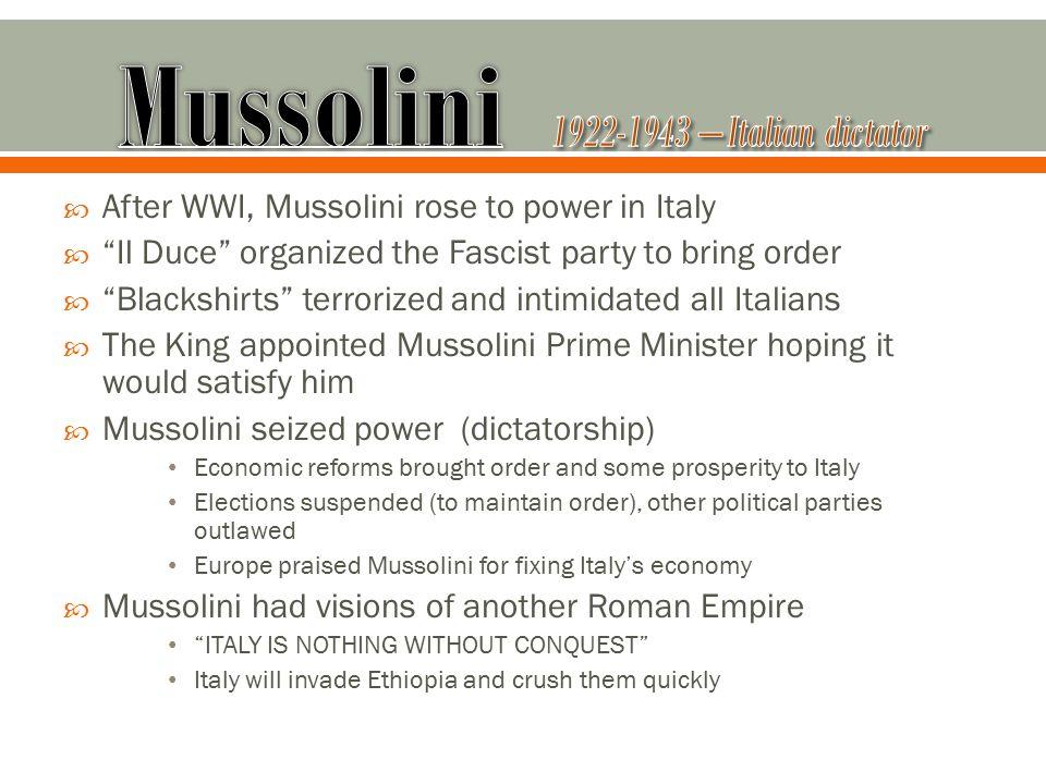 Mussolini 1922-1943 – Italian dictator