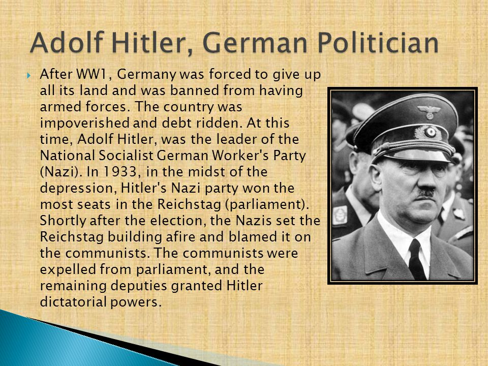 Adolf Hitler, German Politician