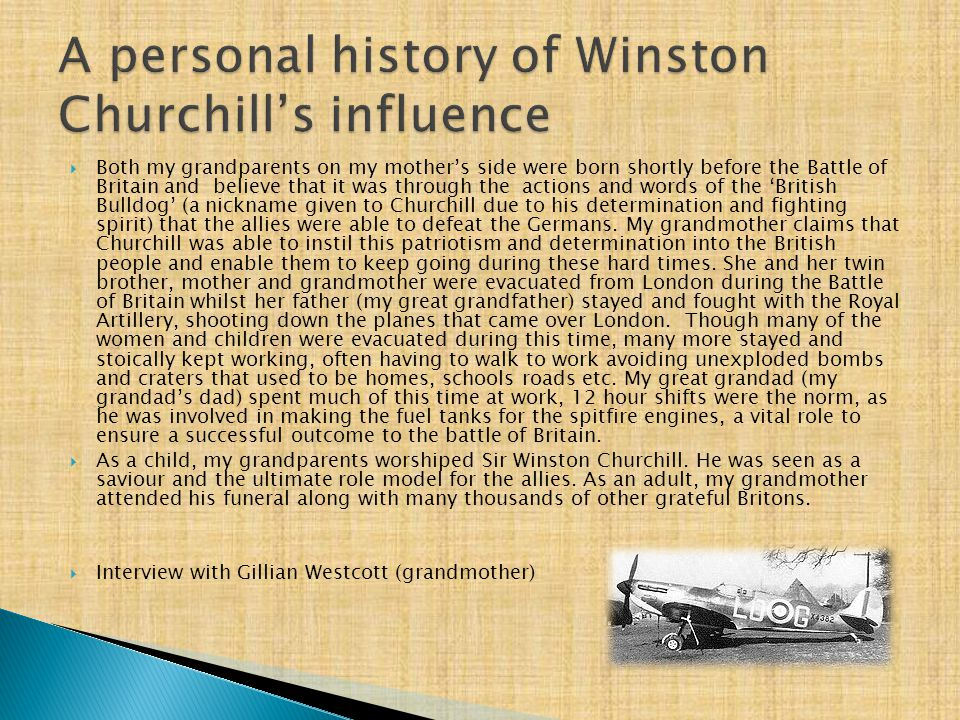A personal history of Winston Churchill's influence
