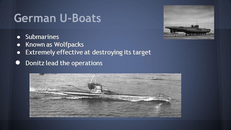 German U-Boats Submarines Known as Wolfpacks