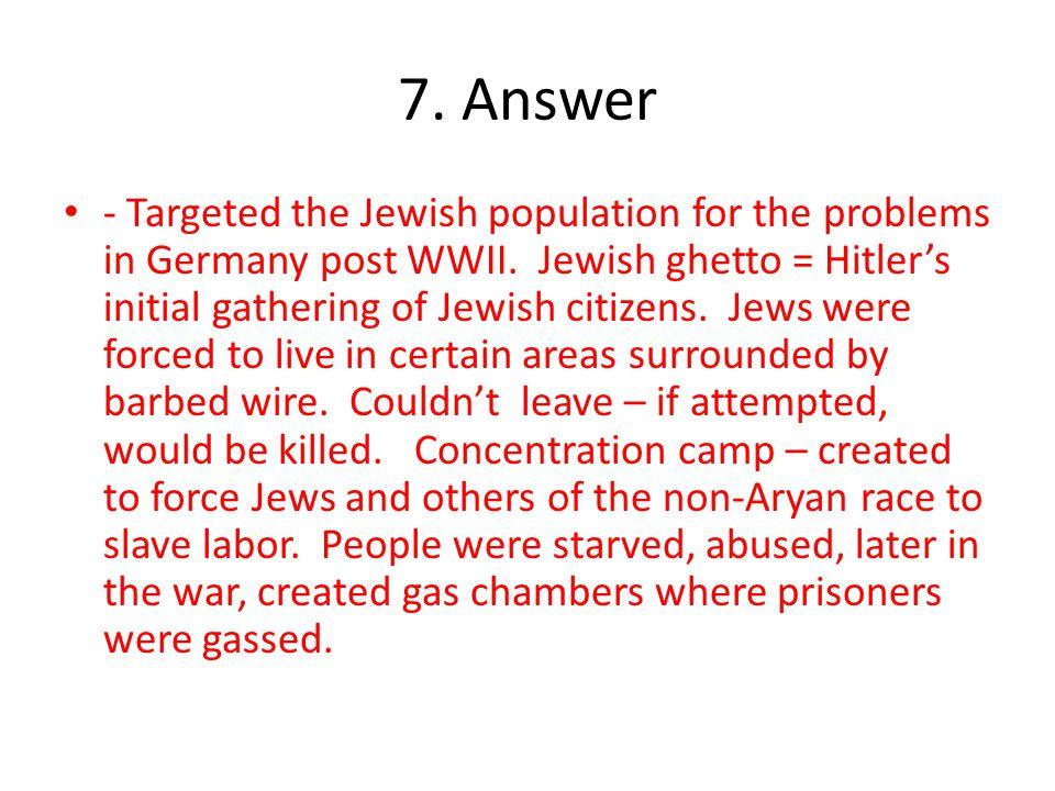7. Answer