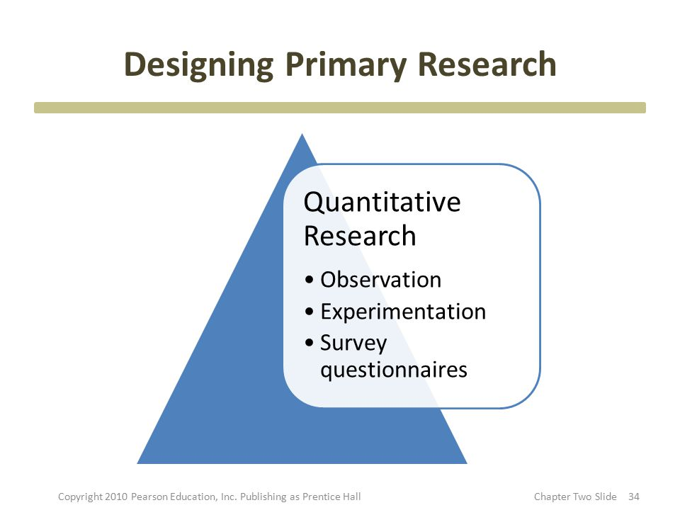 primary research process