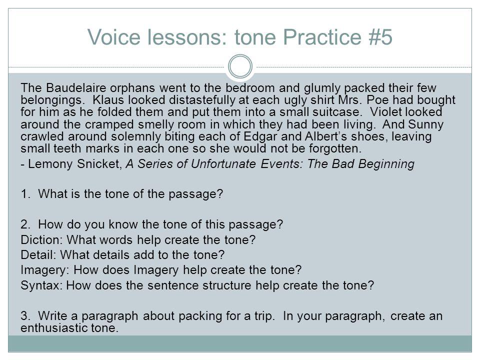 Voice lessons: tone Practice #5