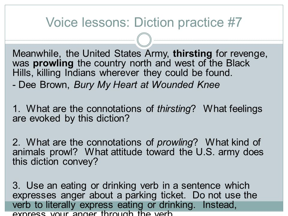 Voice lessons: Diction practice #7