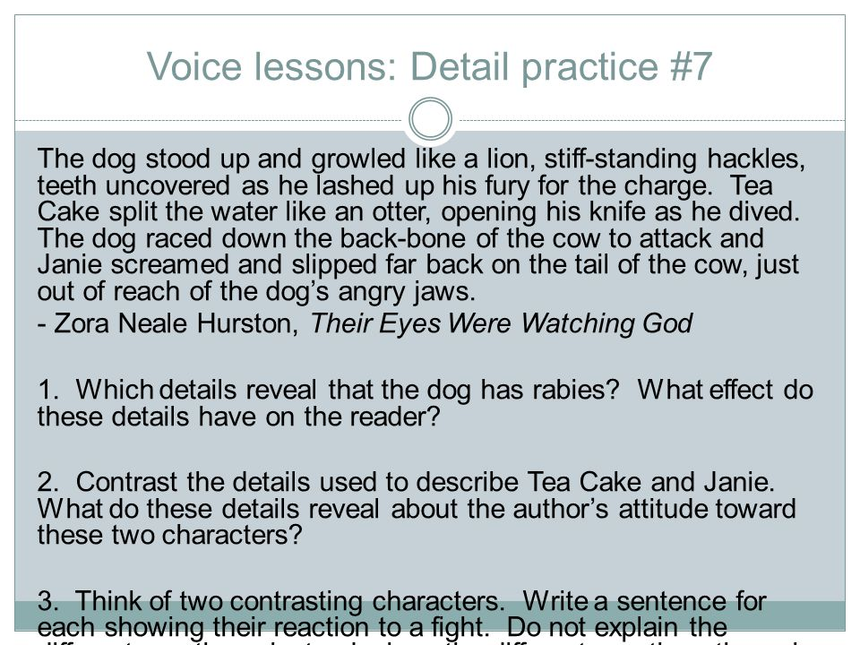 Voice lessons: Detail practice #7