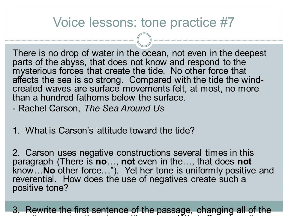 Voice lessons: tone practice #7