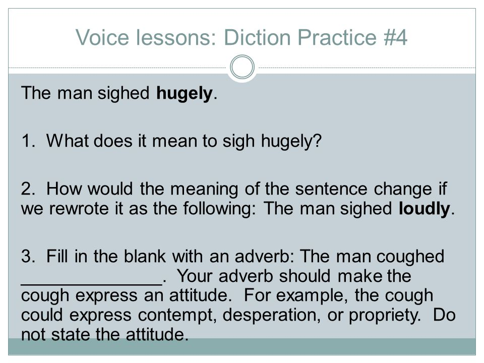 Voice lessons: Diction Practice #4