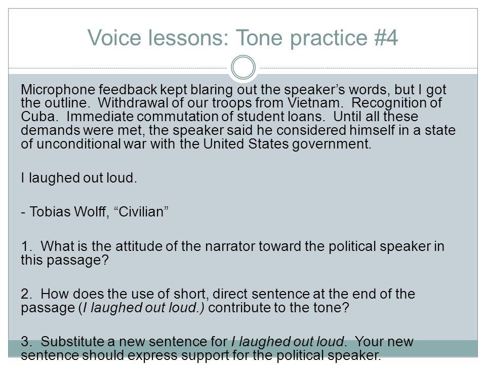 Voice lessons: Tone practice #4