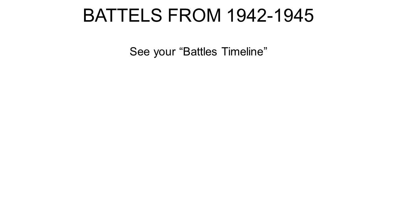 BATTELS FROM 1942-1945 See your Battles Timeline