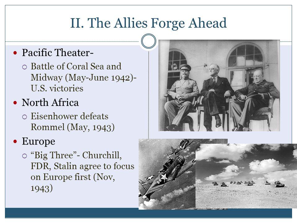 II. The Allies Forge Ahead