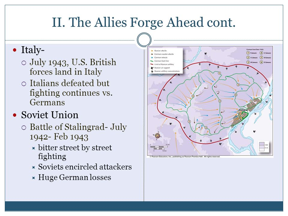 II. The Allies Forge Ahead cont.
