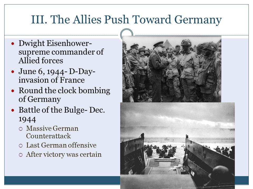 III. The Allies Push Toward Germany