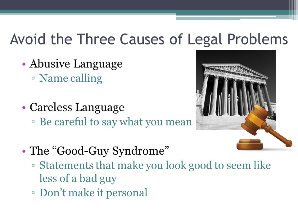 Avoid the Three Causes of Legal Problems