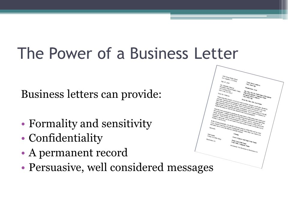 The Power of a Business Letter