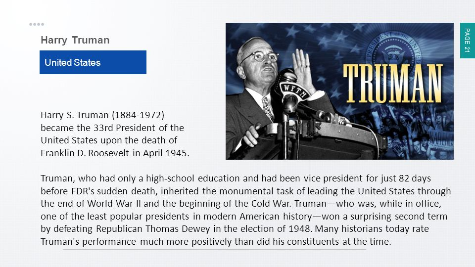 Harry Truman United States.