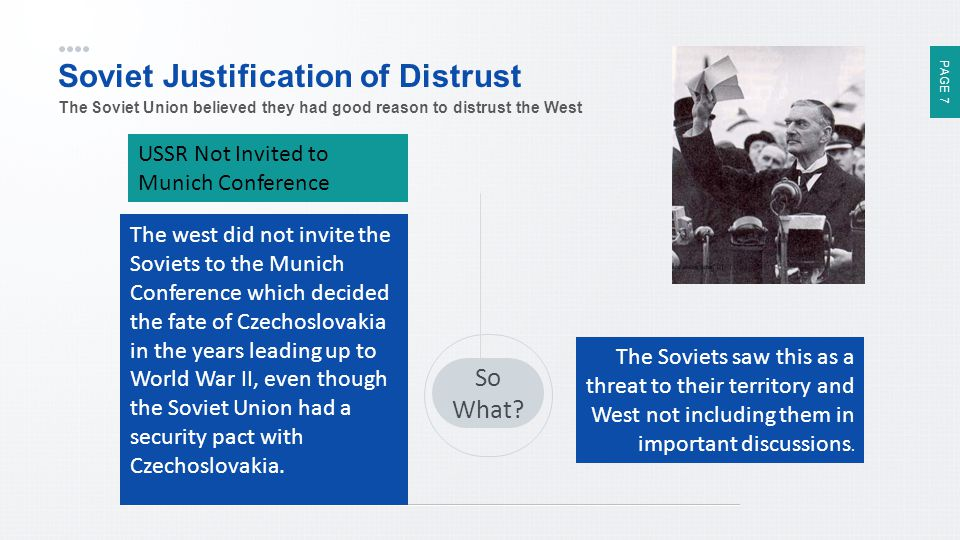 Soviet Justification of Distrust