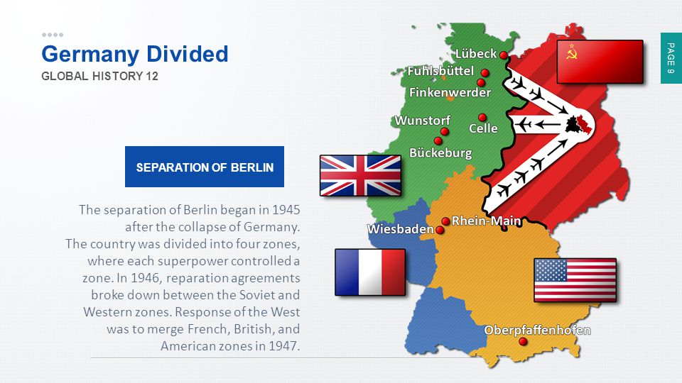Germany Divided GLOBAL HISTORY 12. SEPARATION OF BERLIN.