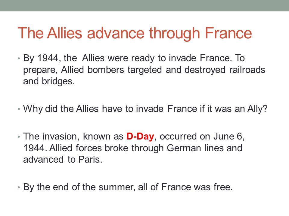 The Allies advance through France