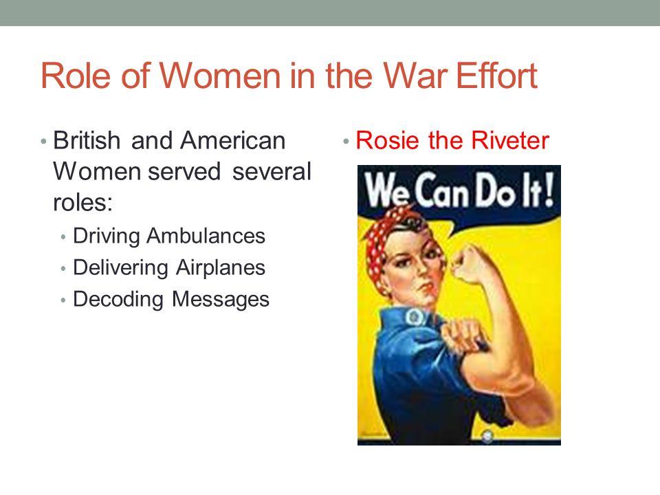 Role of Women in the War Effort