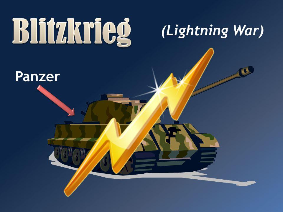 Blitzkrieg (Lightning War) Panzer