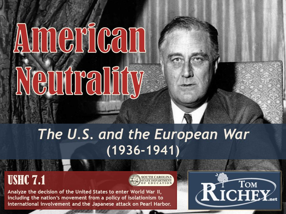 The U.S. and the European War (1936-1941)