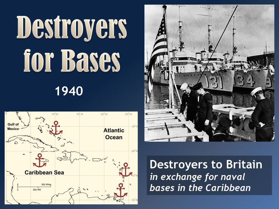 Destroyers for Bases 1940. Map: http://www.sheppardsoftware.com/carribeanweb/blankmap.htm.