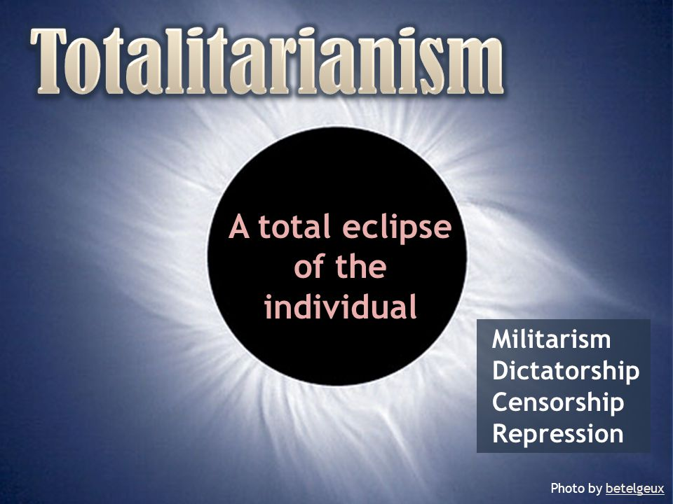 A total eclipse of the individual